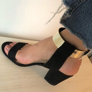 Zara Gold Strap Sandals